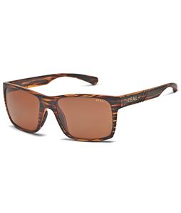 Zeal Brewer Sunglasses Matte Wood Grain/Copper Polarized Lens