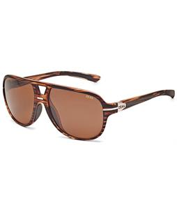 Zeal Darby Sunglasses Matte Wood Grain/Copper Polarized Lens