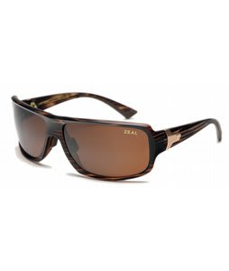Zeal Epic Sunglasses Matte Brown Wood Stripe/Copper Polarized Lens