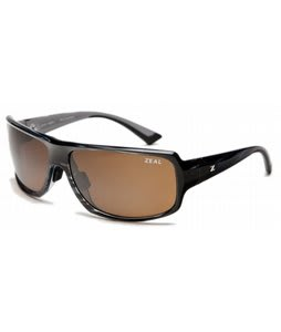 Zeal Epic Sunglasses Shiny Black/Copper Polarized Lens