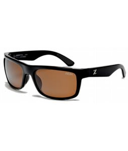 Zeal Essential Sunglasses Shiny Black/Copper Polarized Lens