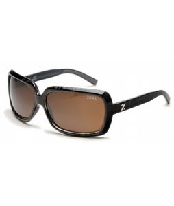 Zeal Felicity Sunglasses Black Plaid/Copper Polarized Lens