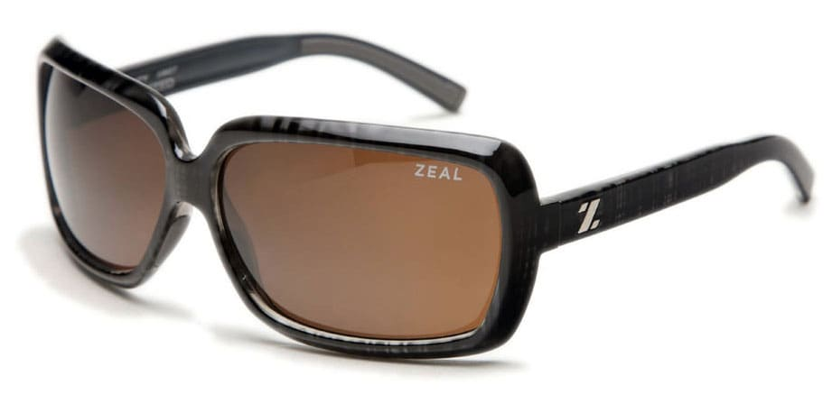 Zeal Felicity Sunglasses Black Plaid/Copper Polarized Lens - Women's