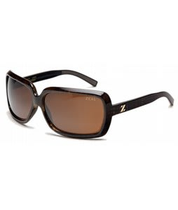 Zeal Felicity Sunglasses Brown Plaid/Copper Polarized Lens