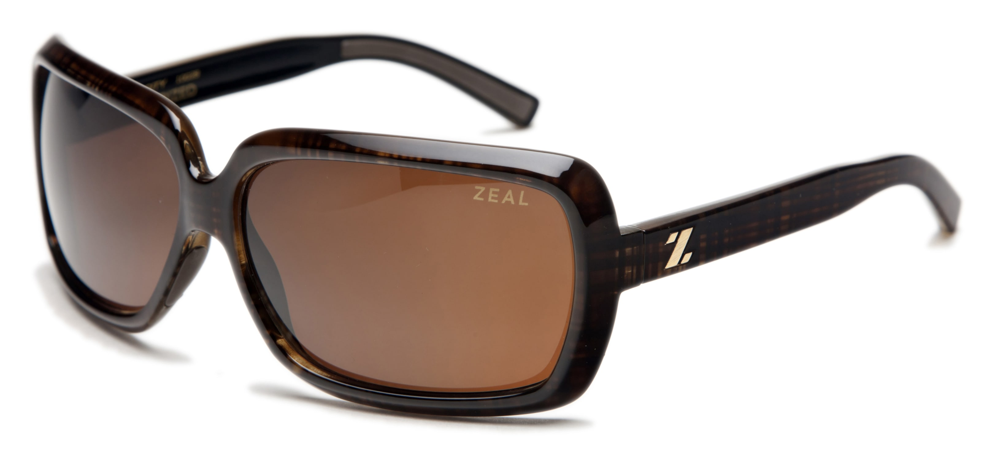 Zeal Felicity Sunglasses Brown Plaid/Copper Polarized Lens - Women's