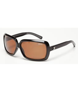 Zeal Felicity Sunglasses Shiny Black/Copper Polarized Lens