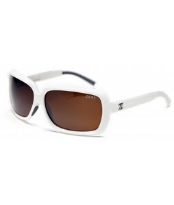 Zeal Felicity Sunglasses Shiny White/Copper Polarized Lens