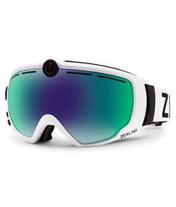 Zeal HD2 Goggles White/Jade Mirror Lens