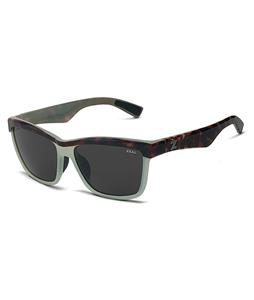 Zeal Kennedy Sunglasses Seafoam Tortoise/Dark Grey Polarized Lens