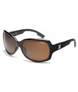 Zeal Penny Lane Sunglasses Black Plaid/Copper Polarized Lens