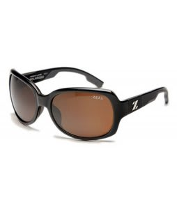 Zeal Penny Lane Sunglasses Shiny Black/Copper Polarized Lens
