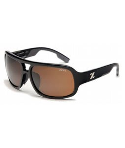 Zeal The Brody Sunglasses Shiny Black/Copper Polarized Lens
