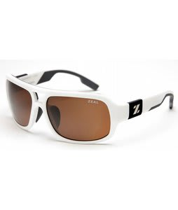 Zeal The Brody Sunglasses Shiny White/Copper Polarized Lens