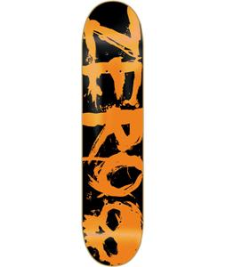 Zero Blood Negative Skateboard Orange/Black