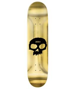 Zero Single Skull Gold Foil Skateboard Deck