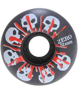 Zero Skulls w/ Blood Skateboard Wheels Black 51mm