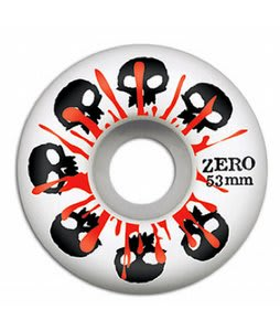 Zero Skulls w/ Blood Skateboard Wheels White 53mm
