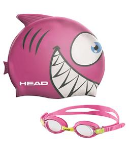 Head Meteor Character Swim Cap And Goggles