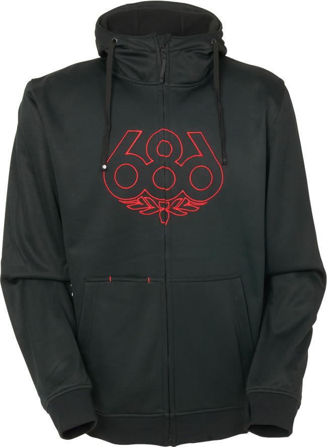 686 Icon Zip Hoodie ss3icoz04bk16zz-686-hoodies