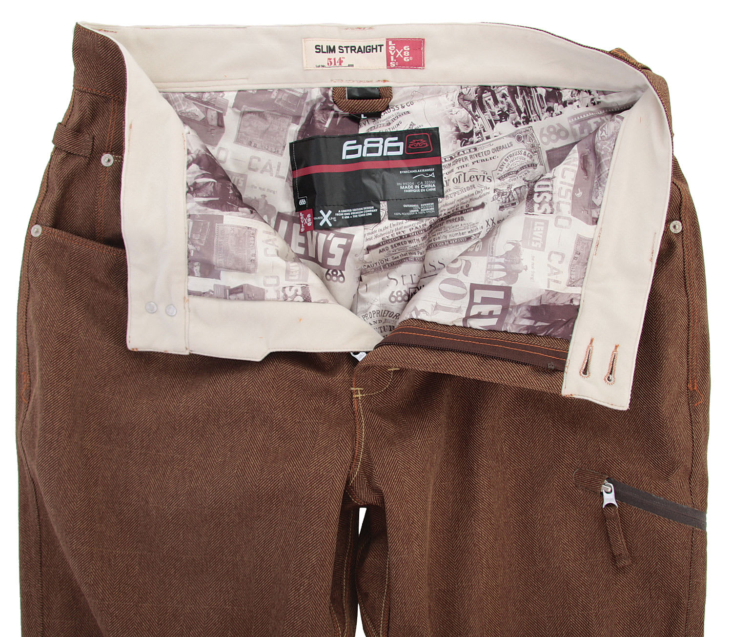686 Times Levis 514 Insulated Snowboard Pants