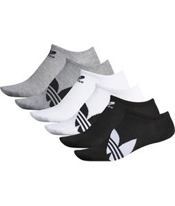 Adidas Originals Trefoil Super Lite No Show 6 Pack Socks