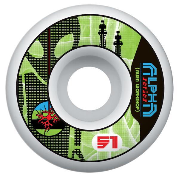 Alien Workshop Alpha Logo Skateboard Wheels 51Mm U.S.A. & Canada