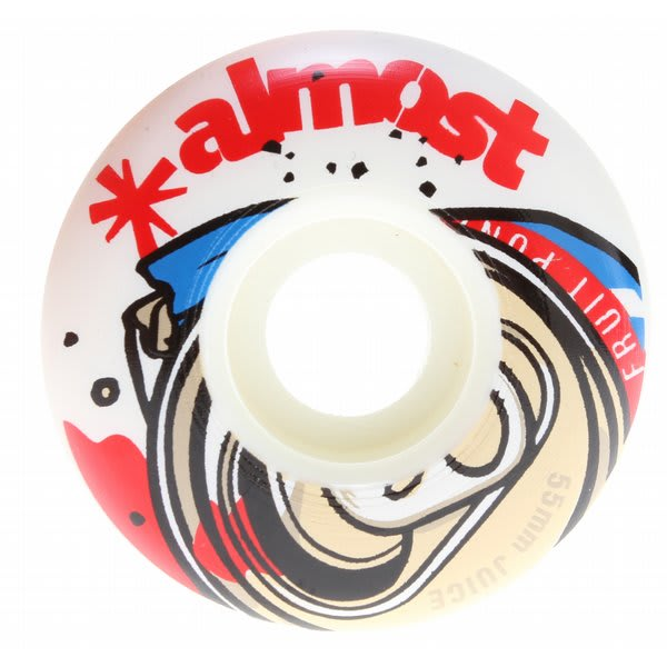 Almost Fruit Juice Skateboard Wheels White / Red 55Mm U.S.A. & Canada