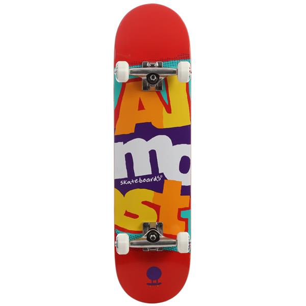 Almost Marquee Stack Skateboard Complete Red U.S.A. & Canada