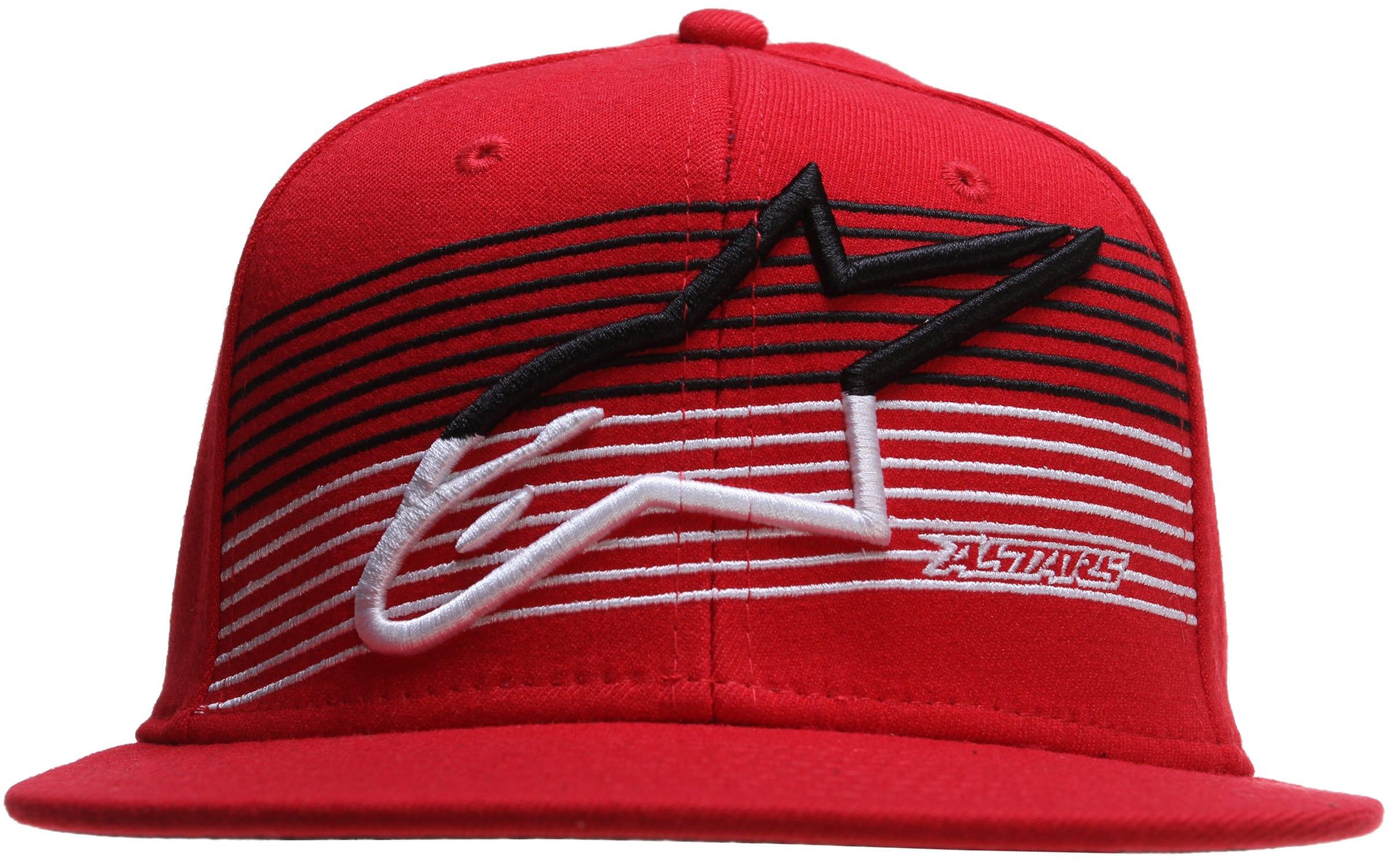 Alpinestars Underlined Flatbill Cap at8unlf24re14zz-alpinestars-caps