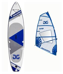 Aquaglide Cascade Inflatable Windsurf Board w/ 4.2M Rig