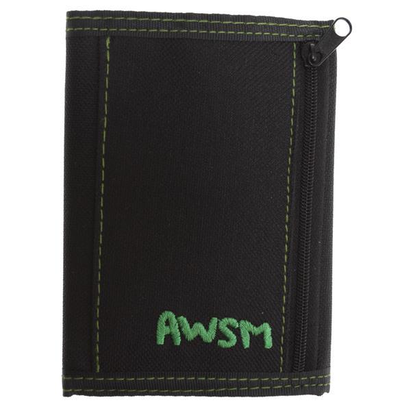 Awsm Velcro Wallet Black / Green U.S.A. & Canada