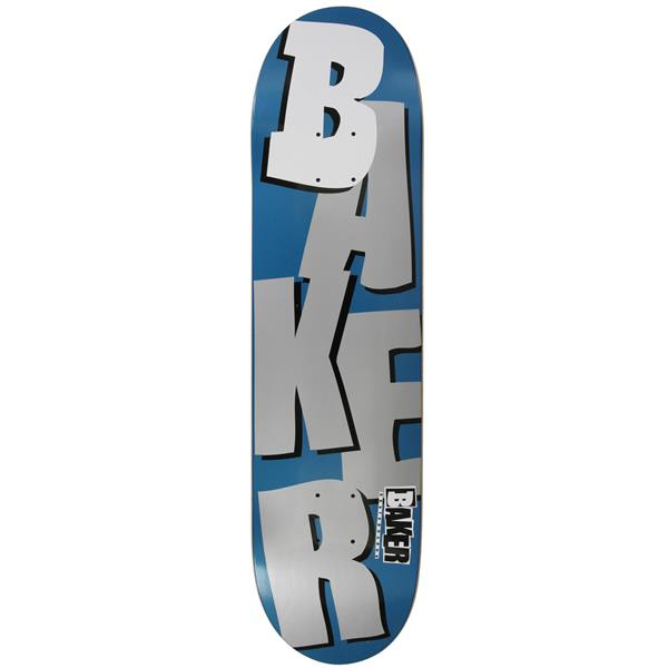 Baker Stacked Skateboard Metallic Navy / Silver 8 19In U.S.A. & Canada
