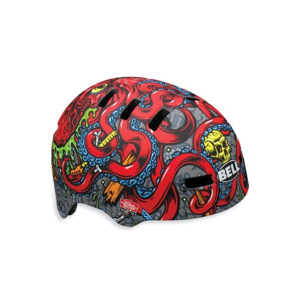 Bell Fraction Bike Helmet Matte Titanium / Red Jp Octopus U.S.A. & Canada