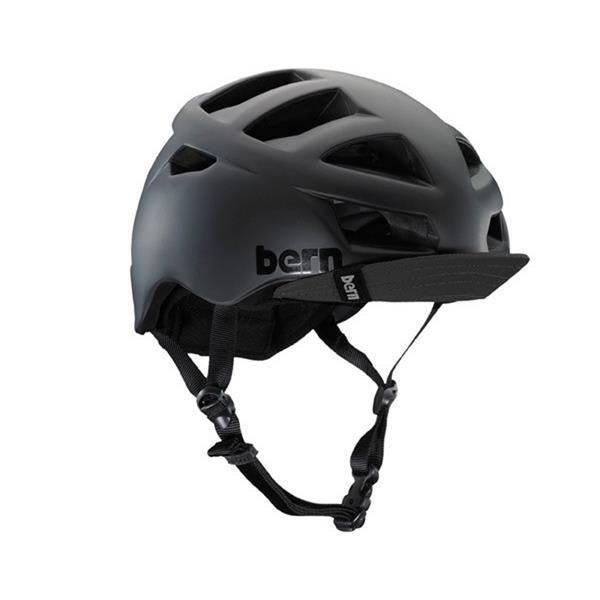 Bern Allston Bike Helmet Matte Black W / Visor U.S.A. & Canada