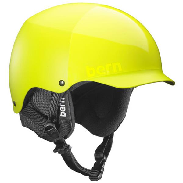 Bern Baker Thin Shell Snowboard Helmet All Neon Yellow U.S.A. & Canada