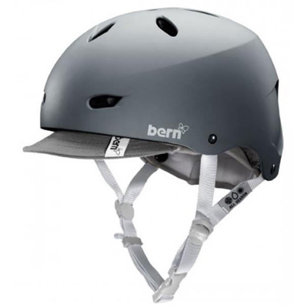 Bern Brighton Bike Helmet Matte Grey W / Visor U.S.A. & Canada