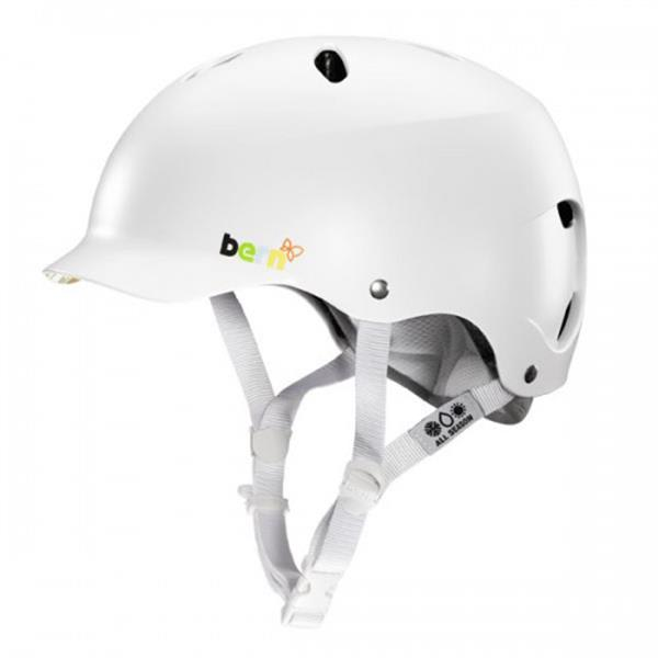 Bern Lenox Bike Helmet Satin White U.S.A. & Canada