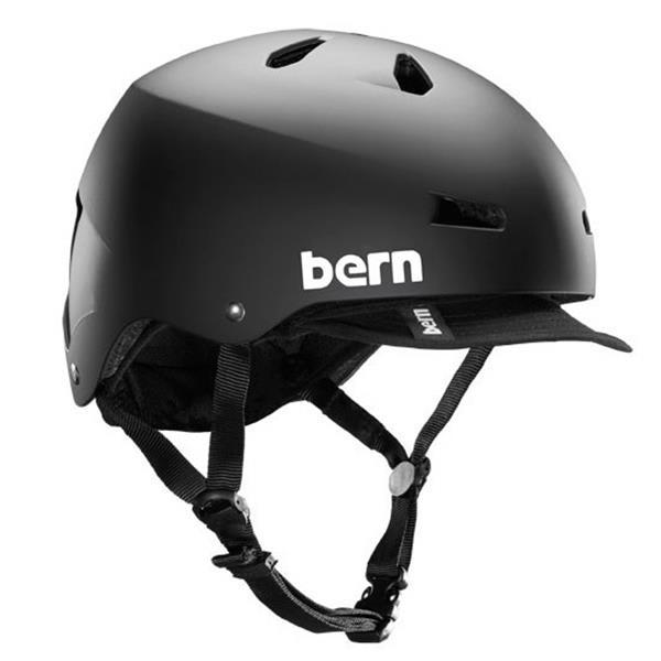 Bern Macon Bike Helmet Matte Black W / Visor U.S.A. & Canada