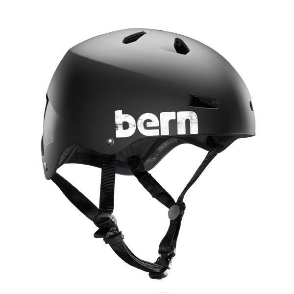 Bern Macon Summer Bike Helmet Eps Matte Black Distress Logo U.S.A. & Canada