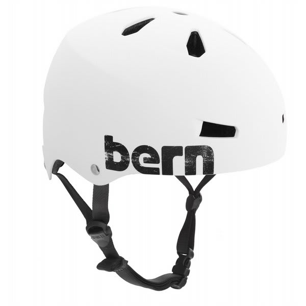 Bern Macon Summer Bike Helmet Eps Matte White Distress Logo U.S.A. & Canada