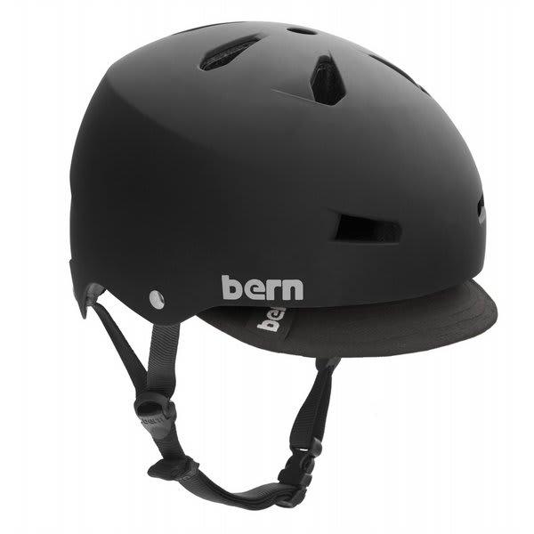 Bern Macon Summer Bike Helmet Matte Black Eps W / Visor U.S.A. & Canada