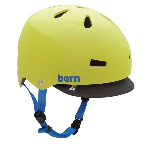 Bern Macon Summer Bike Helmet Neon Yellow Eps W / Visor U.S.A. & Canada