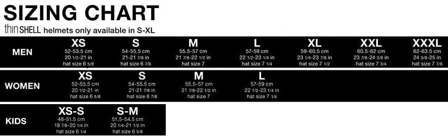 Bern Size Chart