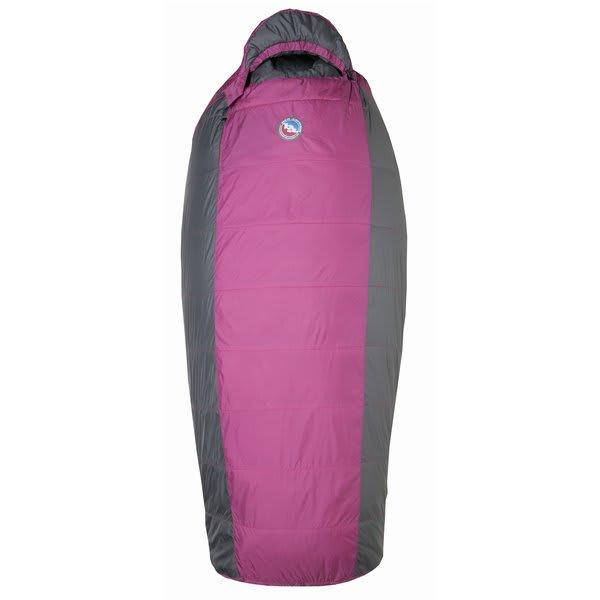 Big Agnes Lulu 15 Regular Right Sleeping Bag Raspberry / Gray U.S.A. & Canada