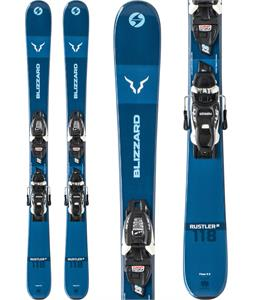 Blizzard Rustler Twin Skis w/ FDT JR 4/5 WB Bindings