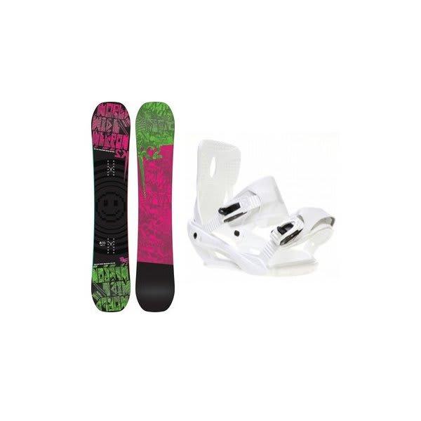 2 Www Rocker Snowboard W / Sapient Zeus Bindings White U.S.A. & Canada