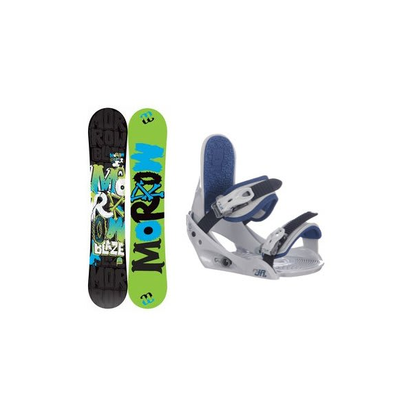 Morrow Blaze Snowboard W / Burton Freestyle Jr Bindings Lt Grey U.S.A. & Canada