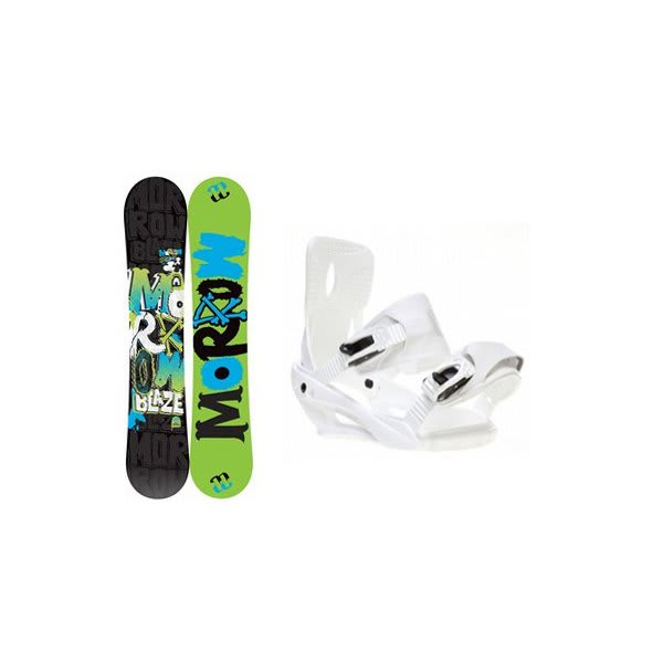 Morrow Blaze Snowboard W / Sapient Zeus Bindings White U.S.A. & Canada