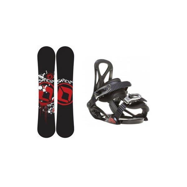 Sapient Rival Snowboard W / Sapient Prodigy Bindings Black U.S.A. & Canada