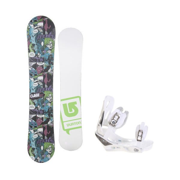 Burton Clash Comic Ltd W / Burton C60 Bindings White U.S.A. & Canada
